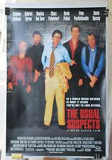 The Usual Suspects Original Movie Poster - Spacey - Del Toro - 1995 - VF