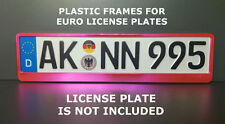 Frame Holder For Euro License Plate VW BMW Saab Mercedes Benz Metallized pink