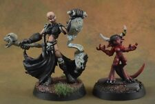 Painted female Necromancer, Thora Reaper Miniatures D&D character evil wizard