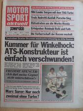 MOTORSPORT AKTUELL 7 - 8.- 14.2. 1984 Rallye Monte Carlo Eisspeedway F.Spencer