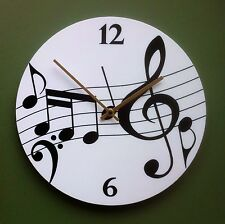 Music Notes Stave Wall Clock