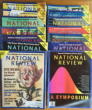 National Review assorted lot of 12 Issues from the 1980s to the early 2000s!