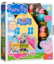 Deluxe Peppa Pig Doll jugar conjunto Mummy Daddy George House & Family figuras Pepper