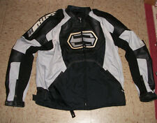 Mens Shift Nylon and Leather Padded Racing Racer Motorcycle Biker Jacket size L