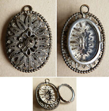 Pendentif porte photo en filigrane Bijou ancien jewel