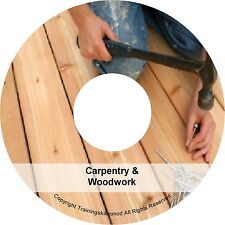 Learn Carpentry Woodwork Woodworking Carpentry Joinery PDF Manuals on CD