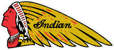 "#k636 6"" Indian Motorcycle Script Logo Decal Sticker Laminated Gold Cheif"