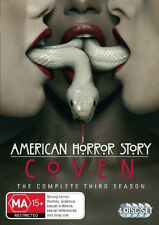 AMERICAN HORROR STORY (COMPLETE SEASON 3 - DVD SET SEALED + FREE POST)