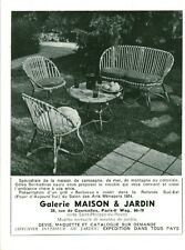 "Publicité Ancienne "" Salon de Jardin - Maison & Jardin  Advertising 1954 (P 33)"