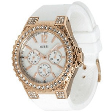 Guess Chronograph MOP Dial Stainless Steel Silicone Strap Women Watch U16529L1