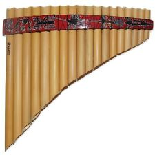 Professional 18 Pipes Nazca Design Tunable Curved Pan Flute - Watch Video