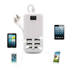 HOT 6 Port USB Desktop Multi-Function Fast Wall Charger Station AC Power Adapter