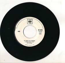 THE BYRDS - IT WON'T BE WRONG  - SET YOU FREE THIS TIME - DISCO JUKE BOX - VG--