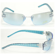 Men Women DG Eyewear Sunglass Designer Rimless Shades Small Tint Blue New 8009