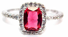 Sterling Silver Ruby And Diamond 1.89ct Ring (925) Size 7 (N)