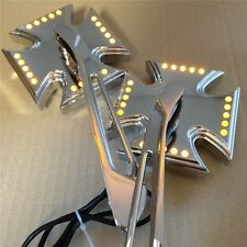 Chrome Custom LED turn siganl integrated mirror fit for Harley Electra Sportster