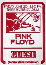 PINK FLOYD REPRO 1975 PITTSBURGH CONCERT BACKSTAGE PASS STICKER . NOT CD DVD