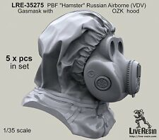 "Live Resin 35275 1/35 PBF ""Hamster"" Russian Airborne (VDV) Gasmask with OZK Hood"
