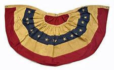 "USA Nylon American Primitive Tea Stained Flag SWAG BUNTING Banner ~ 48"" x 25"""