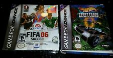 Game Boy Advance Fifa 06 soccer & Hot Wheels Stunt Track Challenge New in Box