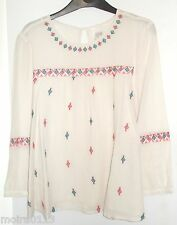 New last size 18 M&S Indigo diamond design boho folk blouse top