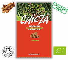 CHICZA ORGANIC RAINFOREST CHEWING GUM 1X BOX OF CINNAMON  ASPARTAME FREE GUM