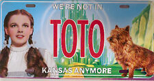 Wizard of Oz Toto Cairn Terrier Dorothy License Plate Metal Sign