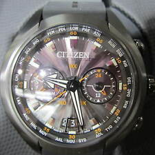 CITIZEN ECO-DRIVE SATELLITE WAVE-AIR MEN'S WATCH CHRONO TITANIUM CC1076-02E