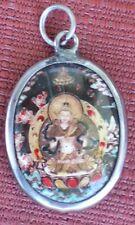 Tibetan Deity Pendant Enamel & Metal VAJRASATTVA