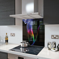 60cm x 65cm Digital Print Glass Splashback - Rainbow Smoke