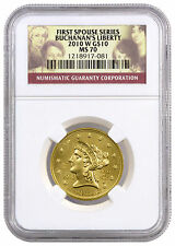 2010-W Buchanan's Liberty $10 First Spouse 1/2 Oz .9999 Gold NGC MS70 SKU22293