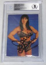 Chyna Signed 1999 Comic Images SmackDown WWF Card 23 BAS Beckett COA WWE Auto'd