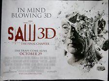 SAW 3D THE FINAL CHAPTER ORIGINAL 2010 CINEMA QUAD POSTER TOBIN BELL