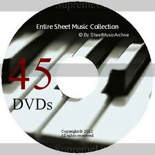SheetMusicArchive Whole Sheet Music Collection Archive Library on 45 DVD's