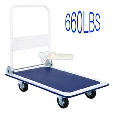 660lbs Folding Platform Cart Dolly Foldable Warehouse Moving Push Hand Truck