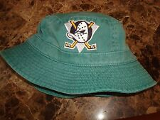 ANAHEIM MIGHTY DUCKS L/XL FISHING  90'S VINTAGE hat cap BUCKET FLOPPY BEACH