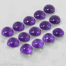 14 Pc WHOLESALE LOT OF 6x6mm ROUND CABOCHON NATURAL AFRICAN AMETHYST GEMSTONE