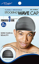 Magic Collection Stocking Wave Cap, Flexible & Breathable (1515BLA/01300BLA)