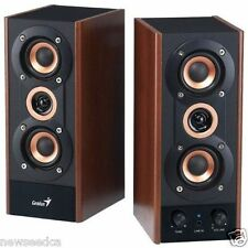 NEW Genius 3 Way Hi Fi Wood Speakers for PC MP3 players and Tablets SP HF800A