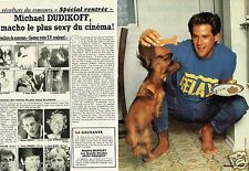 Coupure de Presse Clipping 1986 (2 pages) Michael Dudikoff