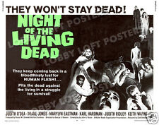 NIGHT OF THE LIVING DEAD LOBBY CARD POSTER HS 1968 GEORGE ROMERO ZOMBIES