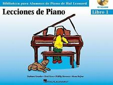 Piano Lessons Book 1 - Book/CD Pack - Spanish Edition (Educational Piano Library