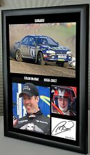 "Colin McRae Rally Legend Framed Canvas Print Signed ""Great Gift or Souvenir"""