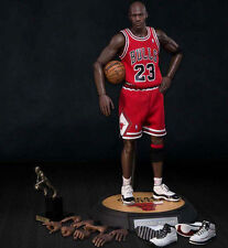 MICHAEL JORDAN Enterbay 1/6 action figure~Bulls 23 Red~Real Masterpiece~HOF~NIB