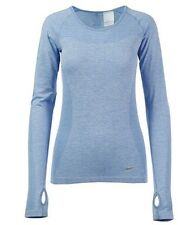 Nike Dri Fit Knit Long Sleeved T Shirt Women's Uk Medium  (718582 422)