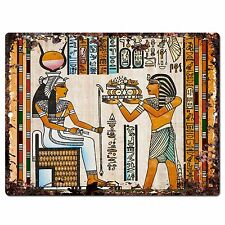 PP0801 Egyptian Painting Chic Plate Sign Home Store Shop Restaurant Cafe Decor
