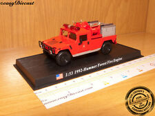 FIRE TRUCK 1:53 HUMMER FOREST FIRE ENGINE USA 1992 CAR
