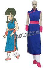 Dragon Ball Chi Chi Blue Cosplay Costume Halloween Girl's Dress Cheongsam Sash A