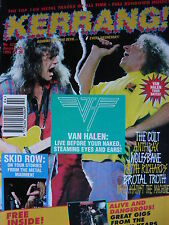 KERRANG 428 - VAN HALEN - SKID ROW - THERAPY - KEITH RICHARDS - THE CULT