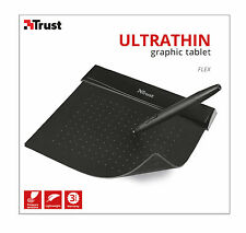TRUST 21259 ULTRA THIN 100MM X 140MM STYLISH BLACK GRAPHICS FLEX DESIGN TABLET